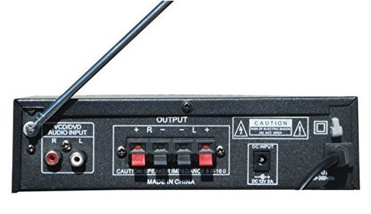 STEREO ses amplifikatörü MP3 USB SD kart FM radyo 200W 2 RCA girişleri YT328A title=