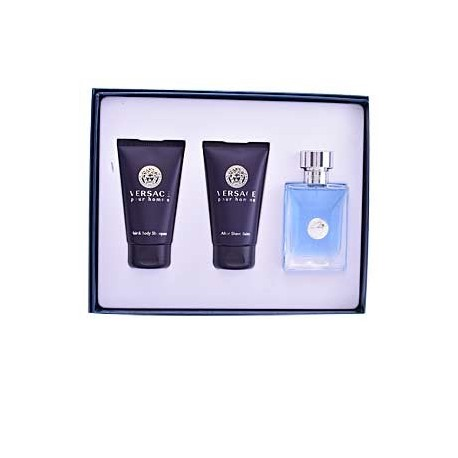 VERSACE POUR HOMME EDT SPRAY 50ML + CHAMPU PARA CABELLO Y CUERPO 50ML + BALSAMO PARA DESPUES DEL AFEITADO 50ML