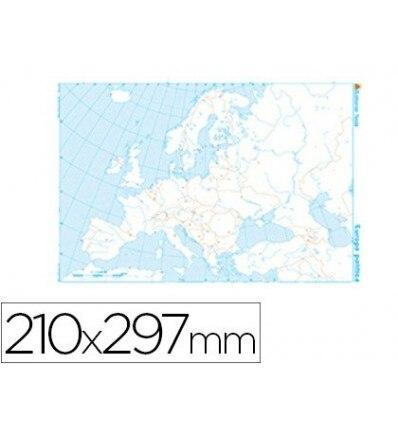 MAP MUTE B/N DIN A4 EUROPE-POLITICO 100 Units