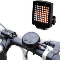 Indicador de giro remoto 64 led laser bicicleta traseira luz da cauda usb recarregável ciclismo segurança girando sinais aviso luz