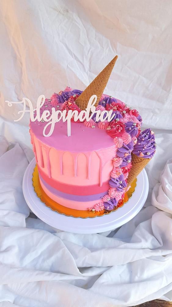 Materiais p/ decoração de bolo Acrílico Espelho Aniversário