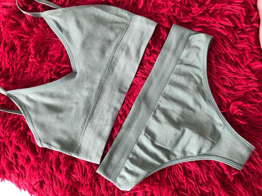 Women Bra Panties Set Push Up Sports Bra Set Sexy G String Seamless Active Bra Thong Lingerie Set Fitness Crop Top Underwear Bra & Brief Sets    - AliExpress