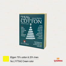 25-% Paper A4 100-Sheets Ivory-Color Waterproof Linen GLYYT042 Visible-Fiber 85GSM Starch-Free