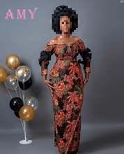 Африканская кружевная ткань высокого качества из парчи нигерийская
