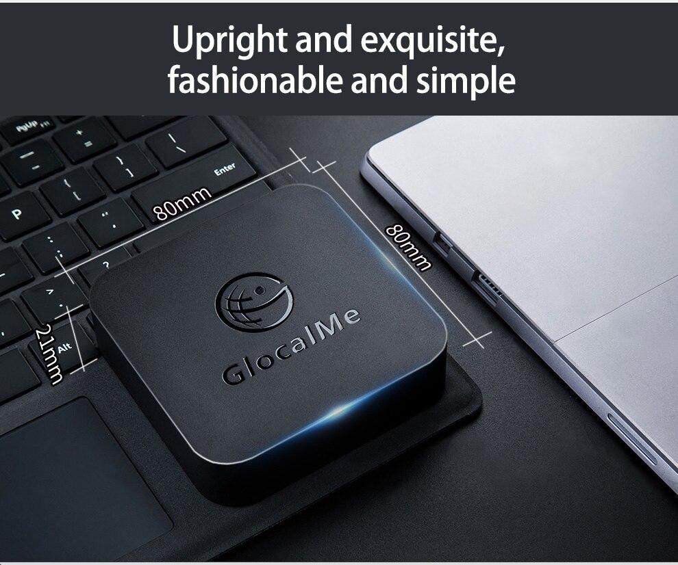 GlocalMe SIMBOX für Multi SIM Multi Standby 4 SIM Karte Slots Unterstützung 2G/3G/ 4G Keine Roaming Gebühren (SCHWARZ) - 5