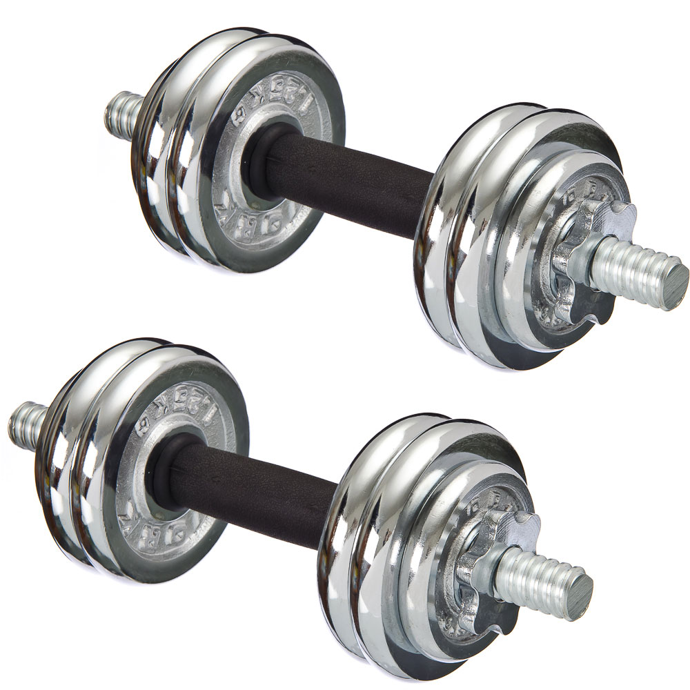 Silapro Dumbbells Collapsible In The Case 2 PCs X 7.5 Kg (neck On Nuts)