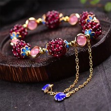 Hot style natural garnet crystal  jewelry grape ball girl