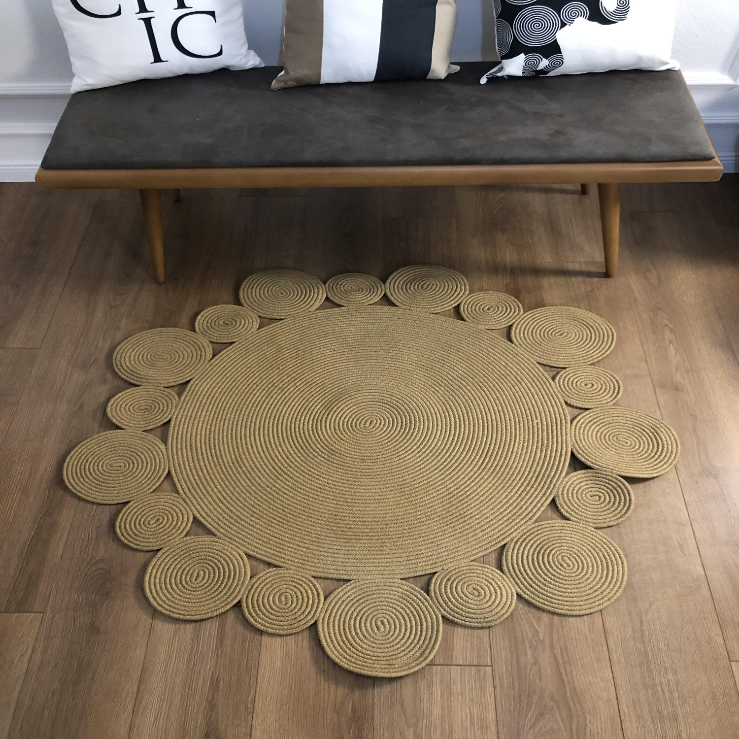 Else Round Natural Jute Carpet Sisal Nomad Natural Fiber Collection Hand Woven Natural Jute Area Rug For Home Living Room