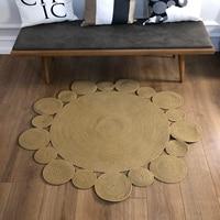 Else Round Natural Jute Carpet Sisal Nomad Natural Fiber Collection Hand Woven Natural Jute Area Rug For Home Living Room|Carpet| |  -