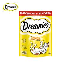 Лакомство для кошек Dreamies подушечки с сыром, 140г