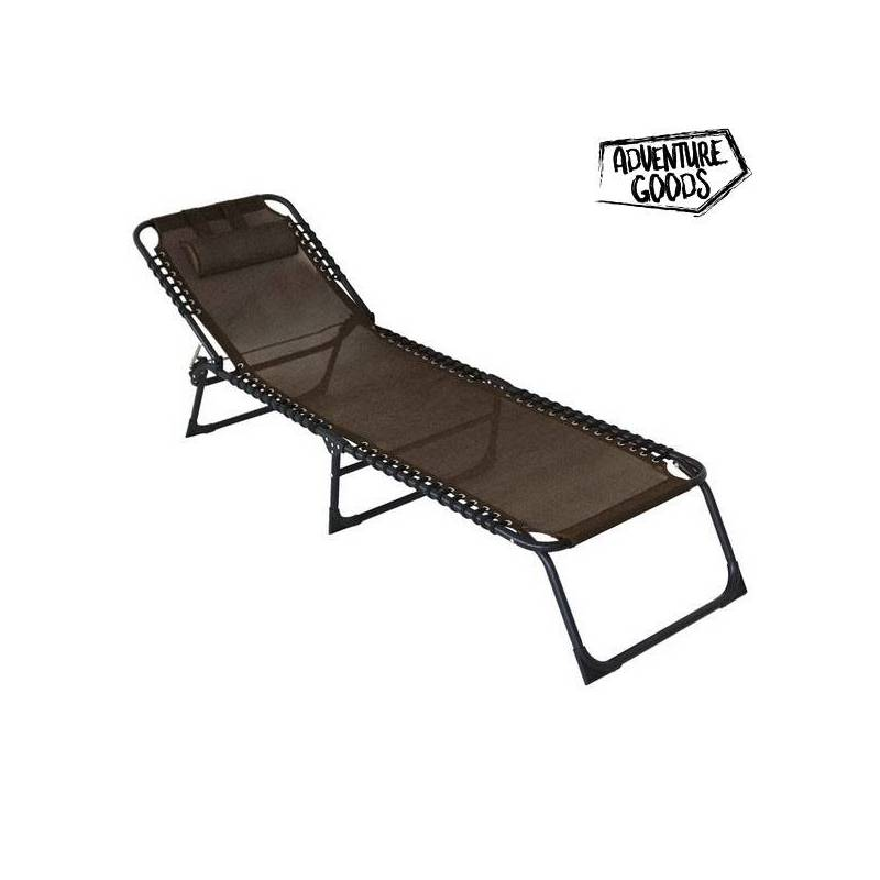 Lounger Adventure Goods 46685 (63x156x79 Cm) Brown