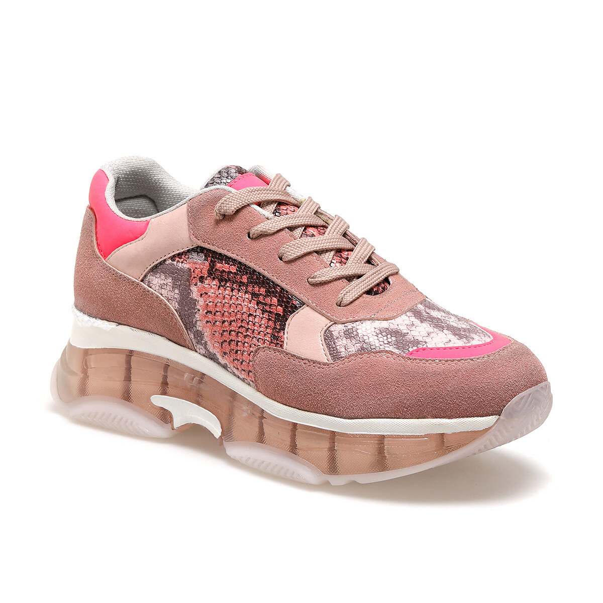 FLO Women Sneaker Shoes Women Casual Sneakers Spring Autumn Sneakers Breathable Women Shoes Lace Up Female Comrfortable Platform BUTIGO 20S-083