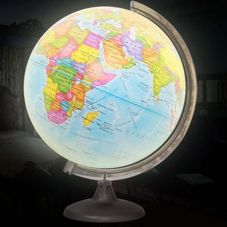 Globe Political Diameter 320mm, Illuminated