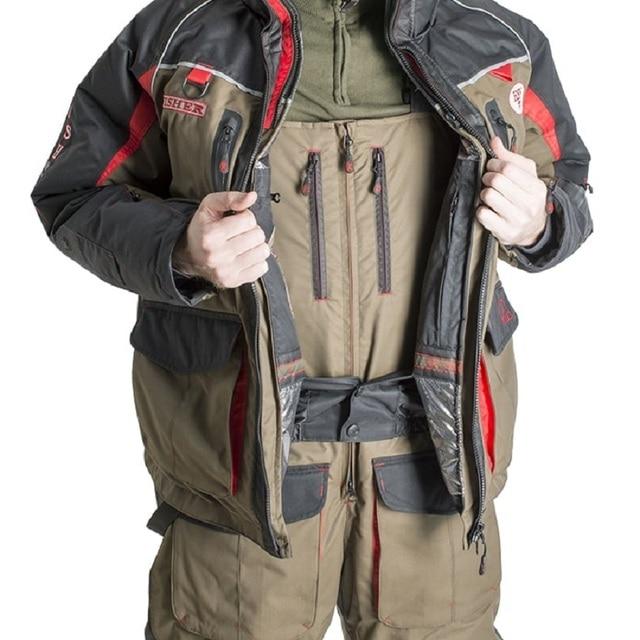 Мужской костюм для зимней рыбалки, непромокаемый непотопляемый для безопасности на воде 3