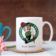 Personalized NBA Boston Celtics White Mug Cup