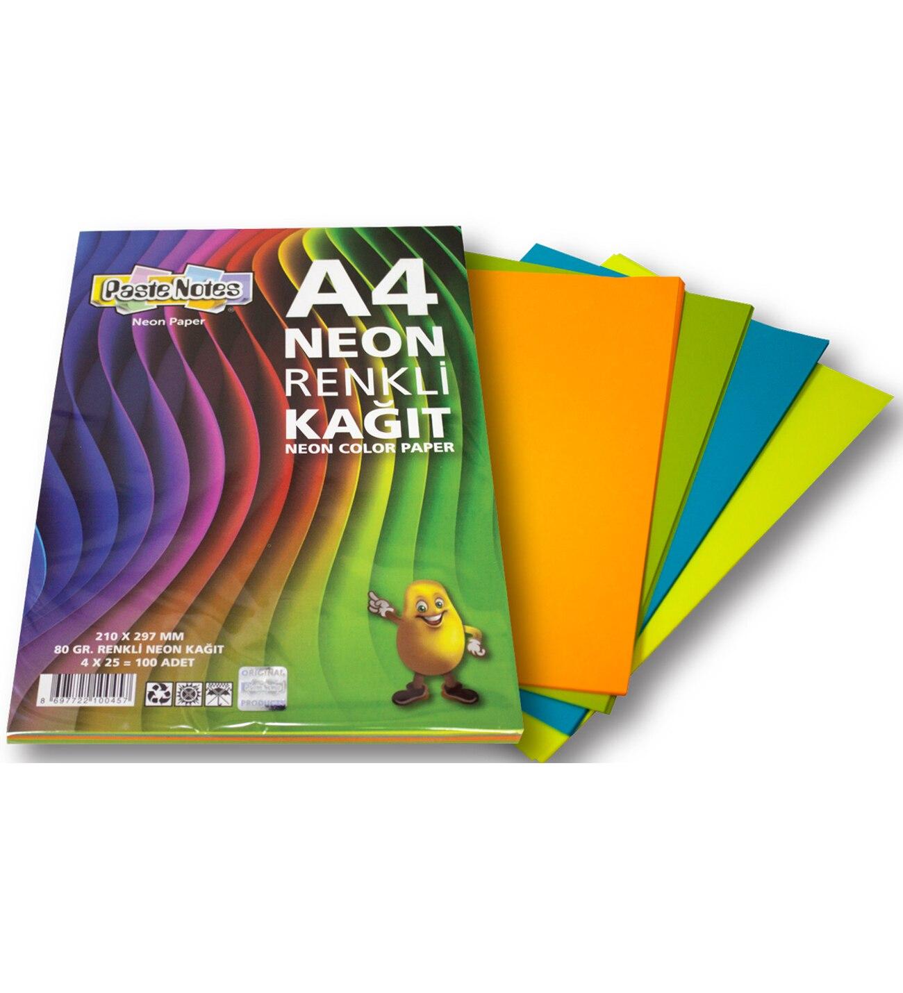 Free Shipping A4 Paper Printer Tracing Copy Paper 4 Color 100pcs/lot A4 Paper 80 Gr Children Handwork DIY Card Scrapbook