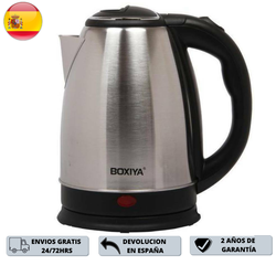 Boxiya electric kettle 1500W 1,8L. Material Stainless Steel, Base and plastic sleeve, safe, high efficiency, swivel Base