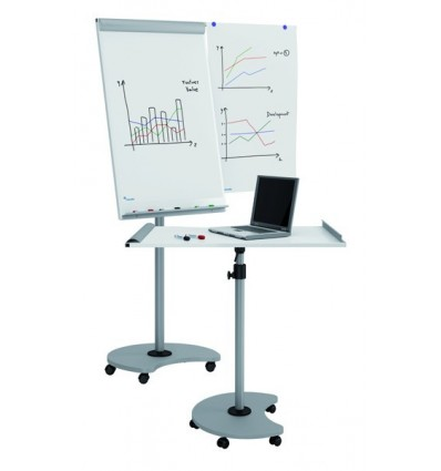 EASEL BLACKBOARD AND CONFERENCES MOBILE TRANSFORMABLE GRAY METAL RD-618 VERSION 2015