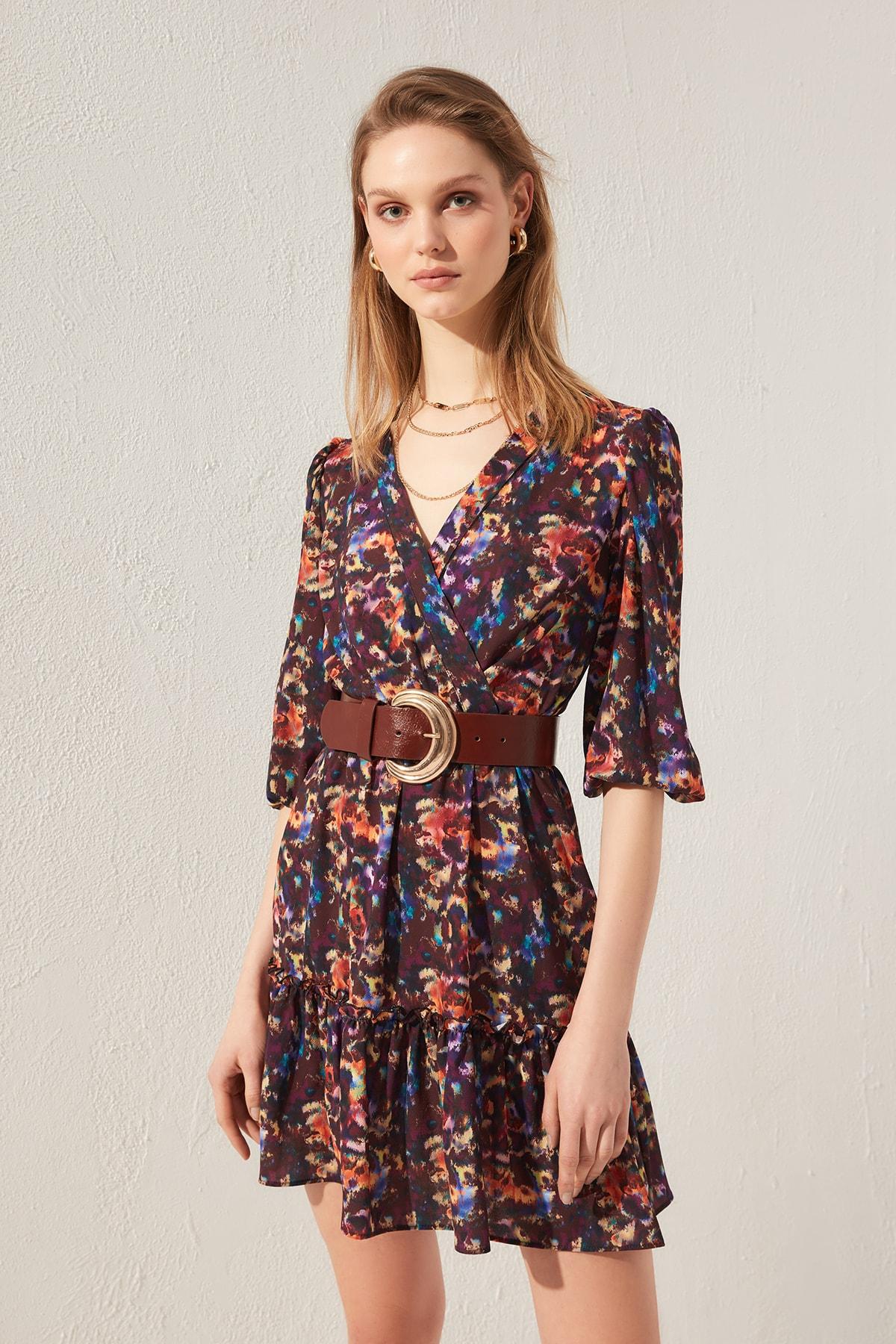 Trendyol Patterned Dress TWOSS20EL0424