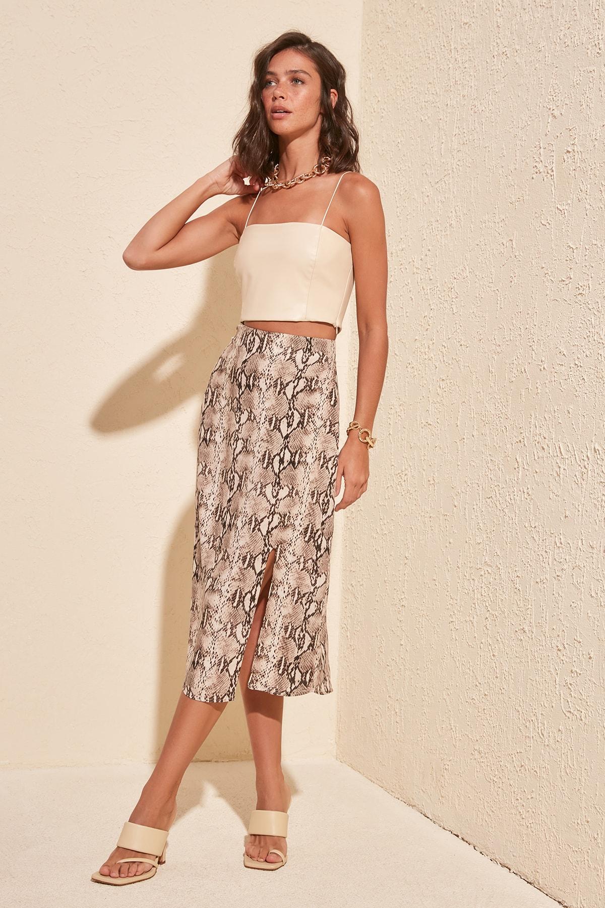 Trendyol Patterned Skirt TWOSS20ET0302
