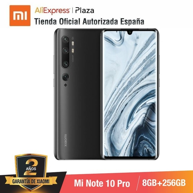 $  Mi Note 10 PRO (256GB ROM con 8GB RAM,  Cámara 108 MP , Android, Nuevo, Móvil)