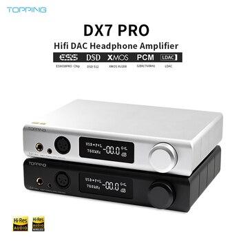 Topping DX7 Pro ES9038Pro DAC&Headphone amp bluetooth 5.0 Wireless Decoder Headphone Amplifier