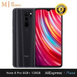 Xiaomi redmi nota 8 pro smartphone (6 gb ram 128 gb rom telefone móvel, livre, novo, nfc, quad camera 64mp) [versão global]