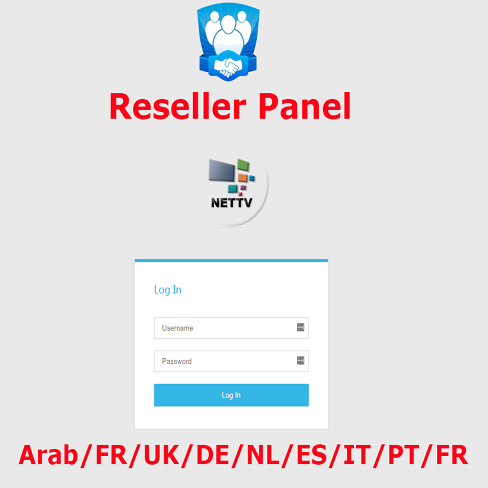 World Iptv Reseller Panel France Germany Control Panel With Credits Contains 6000+Live For IPTV Resellers M3U Italy Spain EX-YU