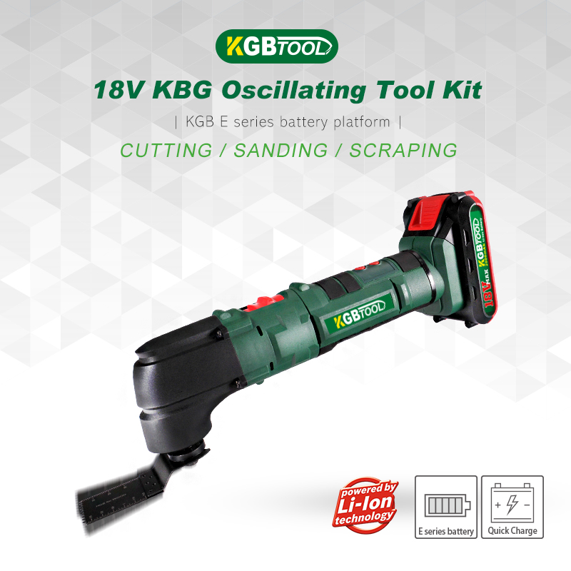 KGB 18V Oscillating Multi-Tool Kit Cutting Machine For Home DIY Renovation Tools Electric Trimmer Saw