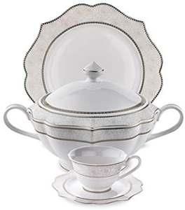Dinner-Set SHF Fine-Bone Schafer with Lace Elegantia Caroline-Series 12001 87piece