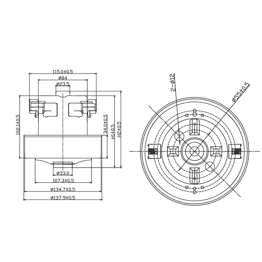 SAMSUNG MOTORE ASPIRAPOLVERE SCOPA 1800 WATT SC4350 DJ31-00067P