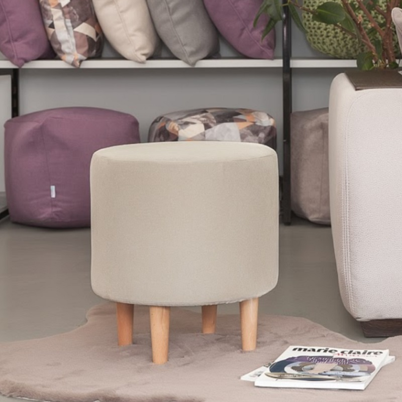豆袋のソファ Delicatex Kioto svetlo-bezhevyiy オットマンパッド入りスツールプーフ家具リビングルームの装飾