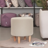 Bean Bag Sofas Delicatex Kioto svetlo bezhevyiy Ottoman Padded stool pouffe furniture living room decorative Bean Bag Sofas     -