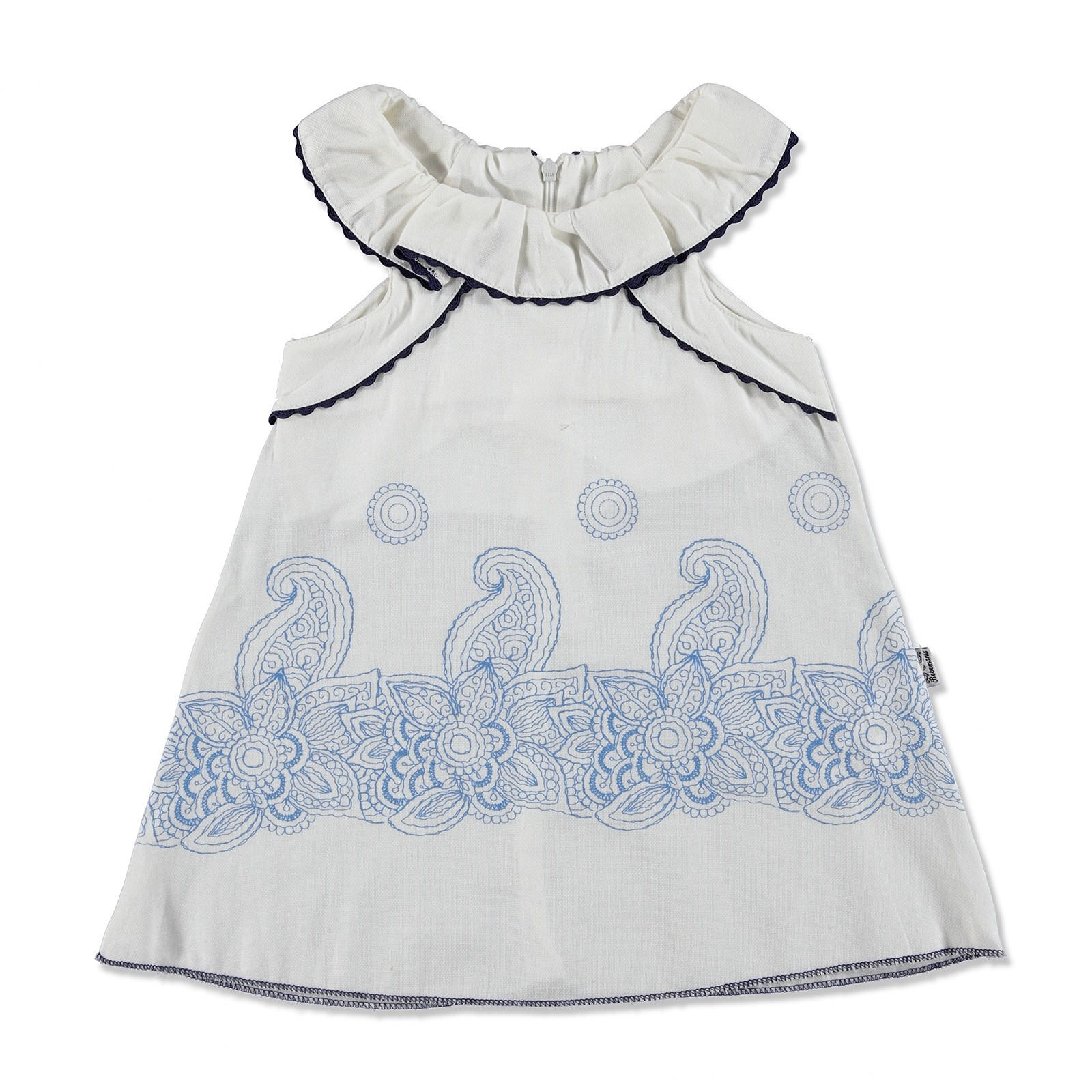Ebebek Bebemania Summer Baby Girl Poplin Ruffle Detailed Dress