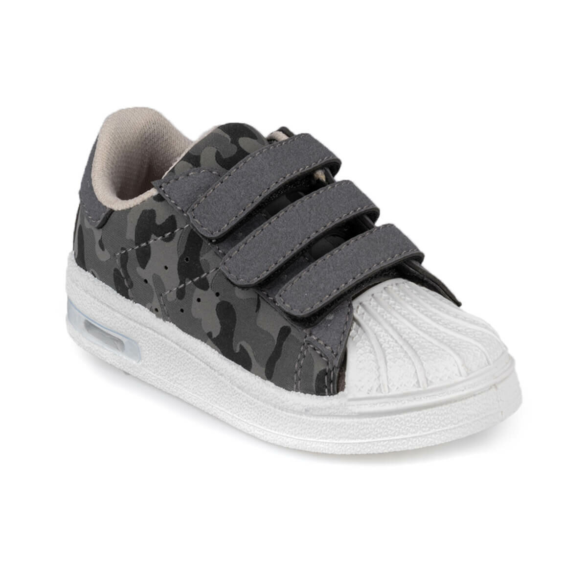 FLO MONTY CAMO 9PR Gray Male Child Shoes KINETIX