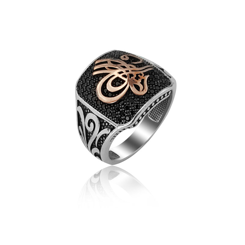 925 Silver Ottoman Rings for Men Islamic Traditional Silver Rings for Man(Turkey)