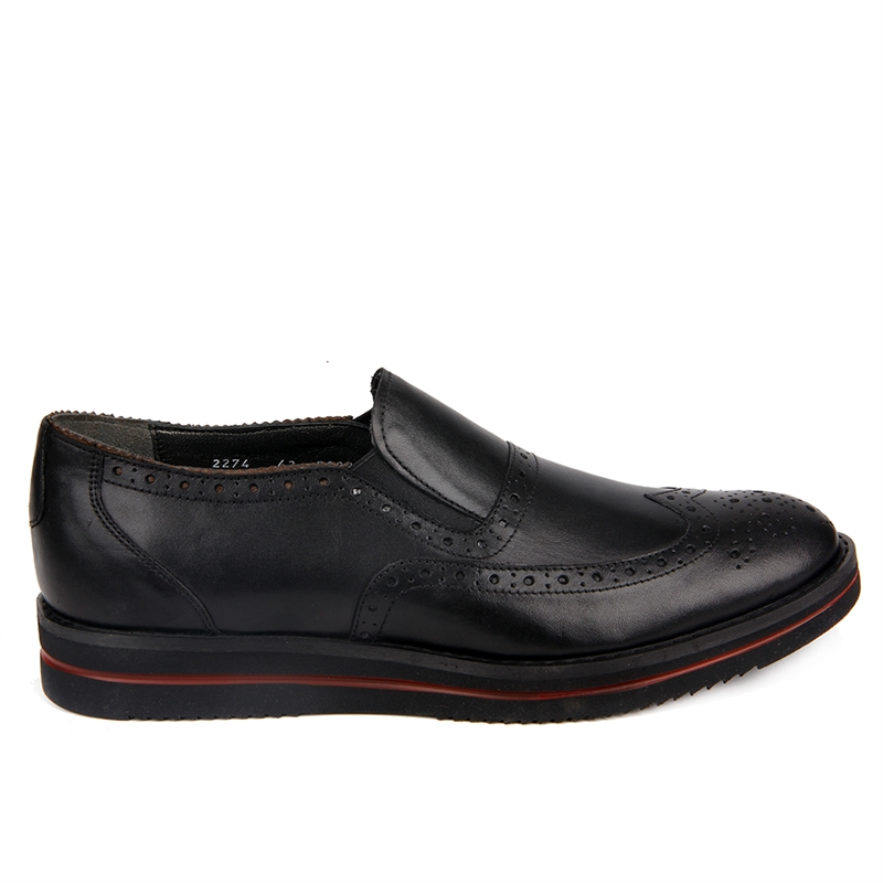 Sail-Lakers Black High Sole Male Shoes
