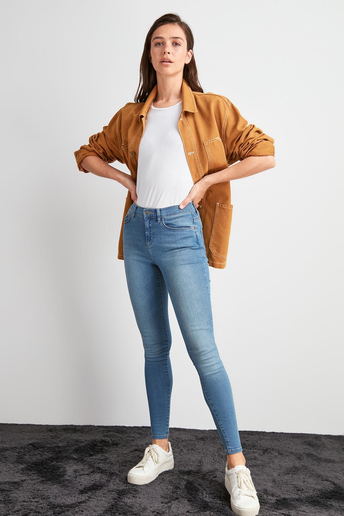 Trendyol High Waist Skinny Jeans TWOAW20JE0493