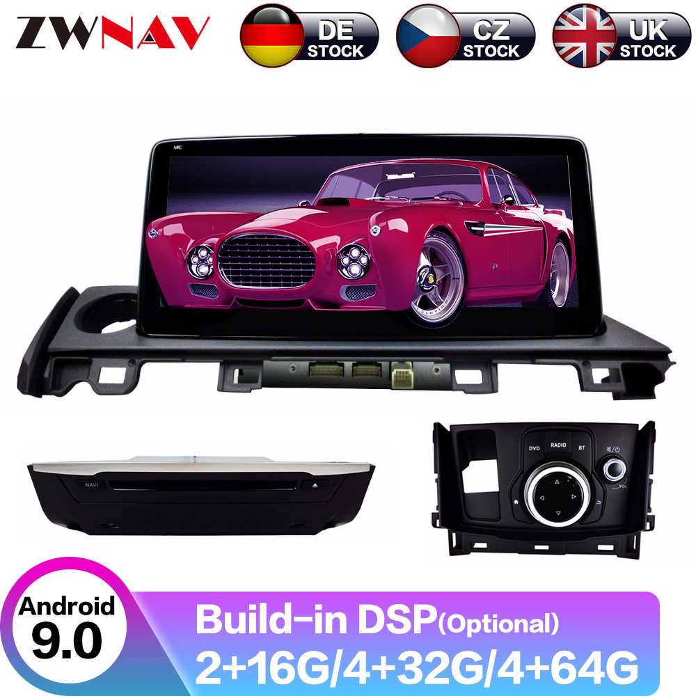 <font><b>Android</b></font> 9 4+64G DSP IPS Car Player GPS Navigation For <font><b>MAZDA</b></font> <font><b>6</b></font> 2017-2018 <font><b>Head</b></font> <font><b>Unit</b></font> Multimedia Player Tape Recorder image