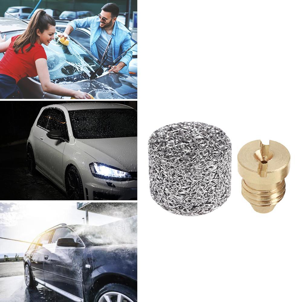 Foam Generator Pot Filter Cartridge Copper Nozzle Tip For High Pressure Car Washing Gun Foam Filter Lance Mesh Tablet Accessory