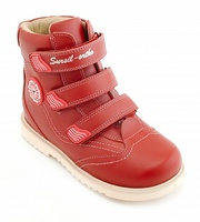 Sursil ortho/orthopedic shoes baby red for prevention of flat feet genuine leather Velcro