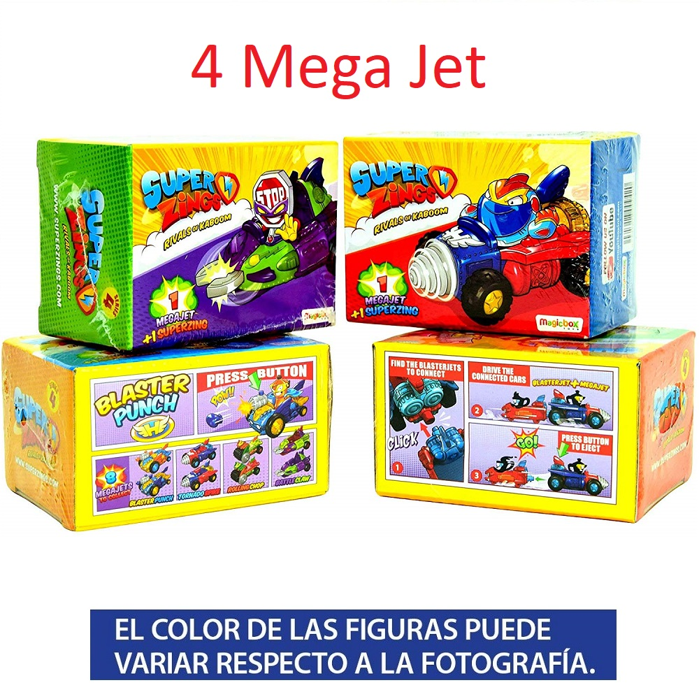 Superzings Series 4-Pack Collection Tracks From 4 Mega Jet And 4 Figures