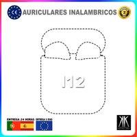 Auriculares inalámbricos con Bluetooth I12 cascos deporte i12 música tws con cable de carga universal Auricular Blanco