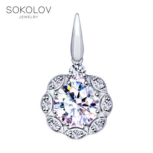 Pendant SOKOLOV Silver Fashion Jewelry Silver 925 Women's Male