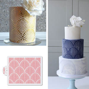 Template Stencils Wheat Bakeware Cake-Decorating-Tool Lace Cake Spike-Pattern Plastic