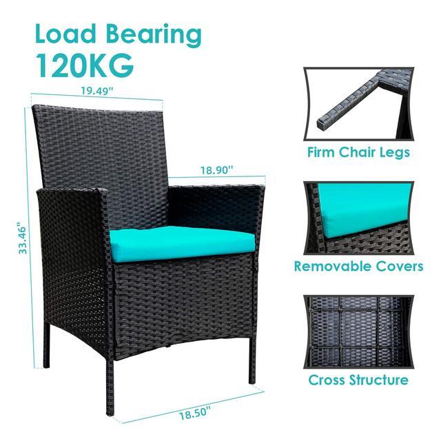 4 Pieces Patio Furniture Set 4