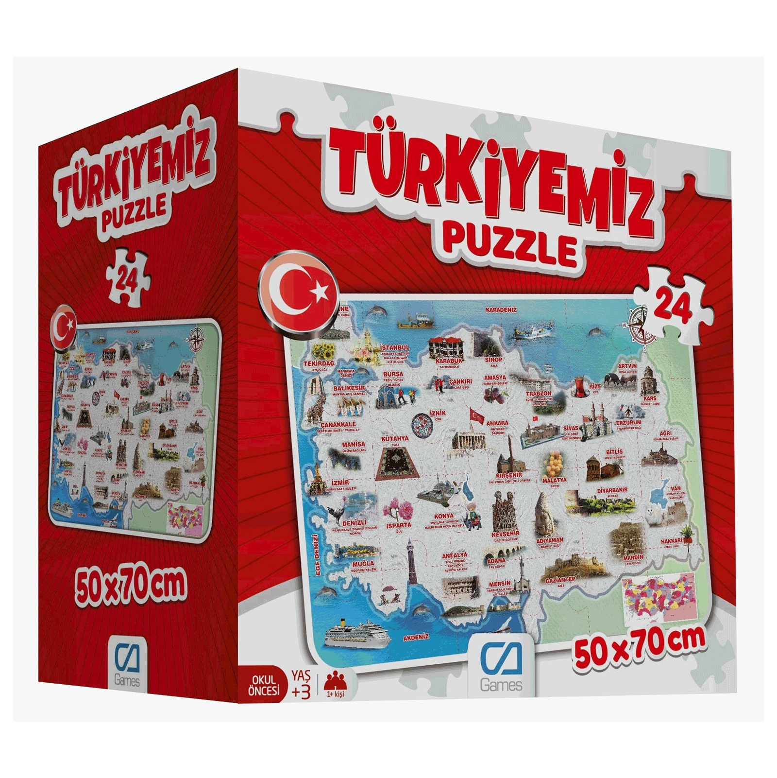 Ebebek Ca Games Educational Puzzle - Turkey 3 Years+