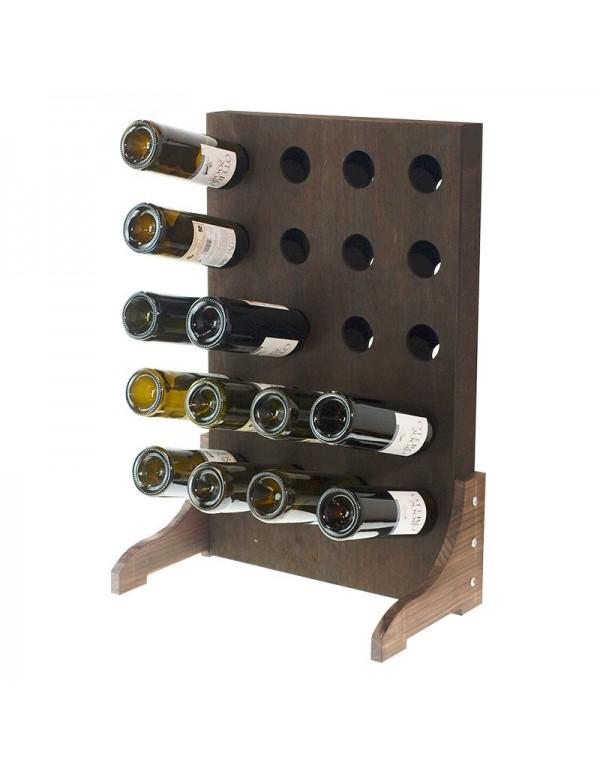 Botellero Vertical 20 Botellas Nogal