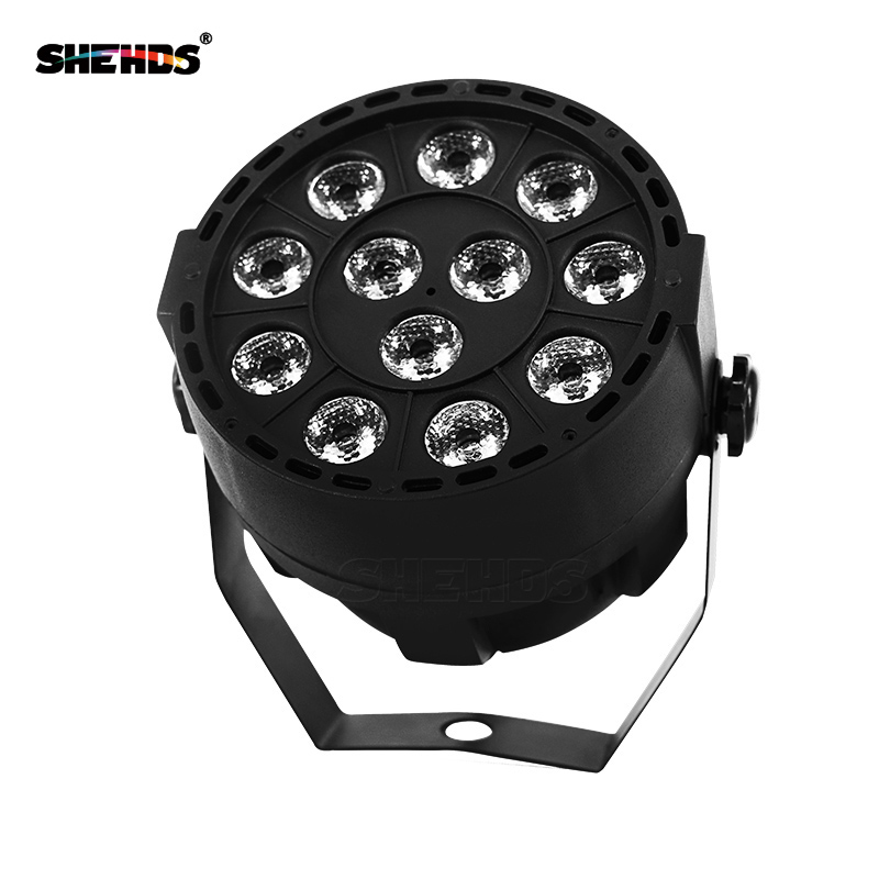 10 Pcs/lot LED Stage Light Effect 12x3W Flat Par RGBW DMX512 DJ Disco Lamp KTV Bar Party Backlight Beam Projector Dmx Spotlight