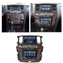 Автомобильное радио для Nissan Patrol Y62 2010 2011 2012 2013 2014 2015 2016 2017 2018 2019 2020 двойной экран оригинальный автомобильный стерео 360 Камер